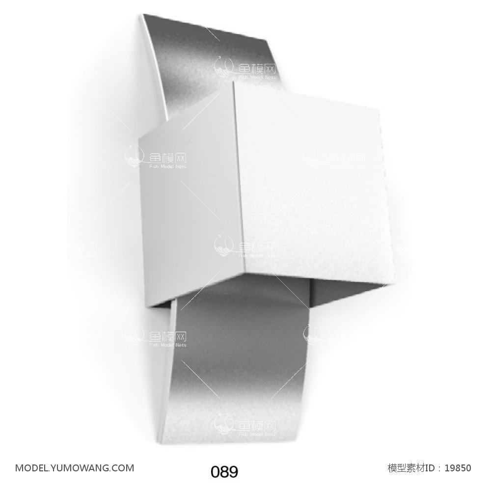 现代金属造型壁灯 (1)3D模型下载-[ID]19850
