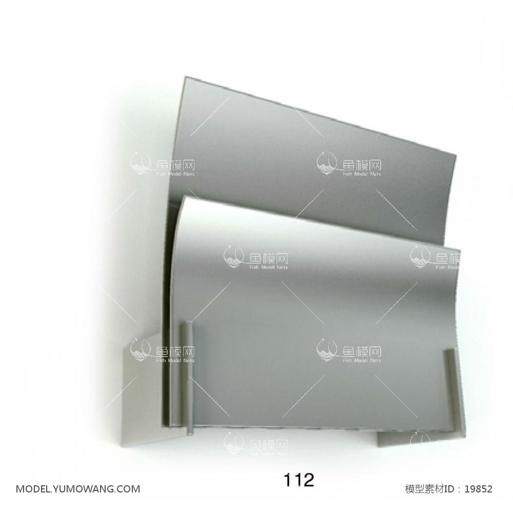 现代金属造型壁灯 (3)3d模型