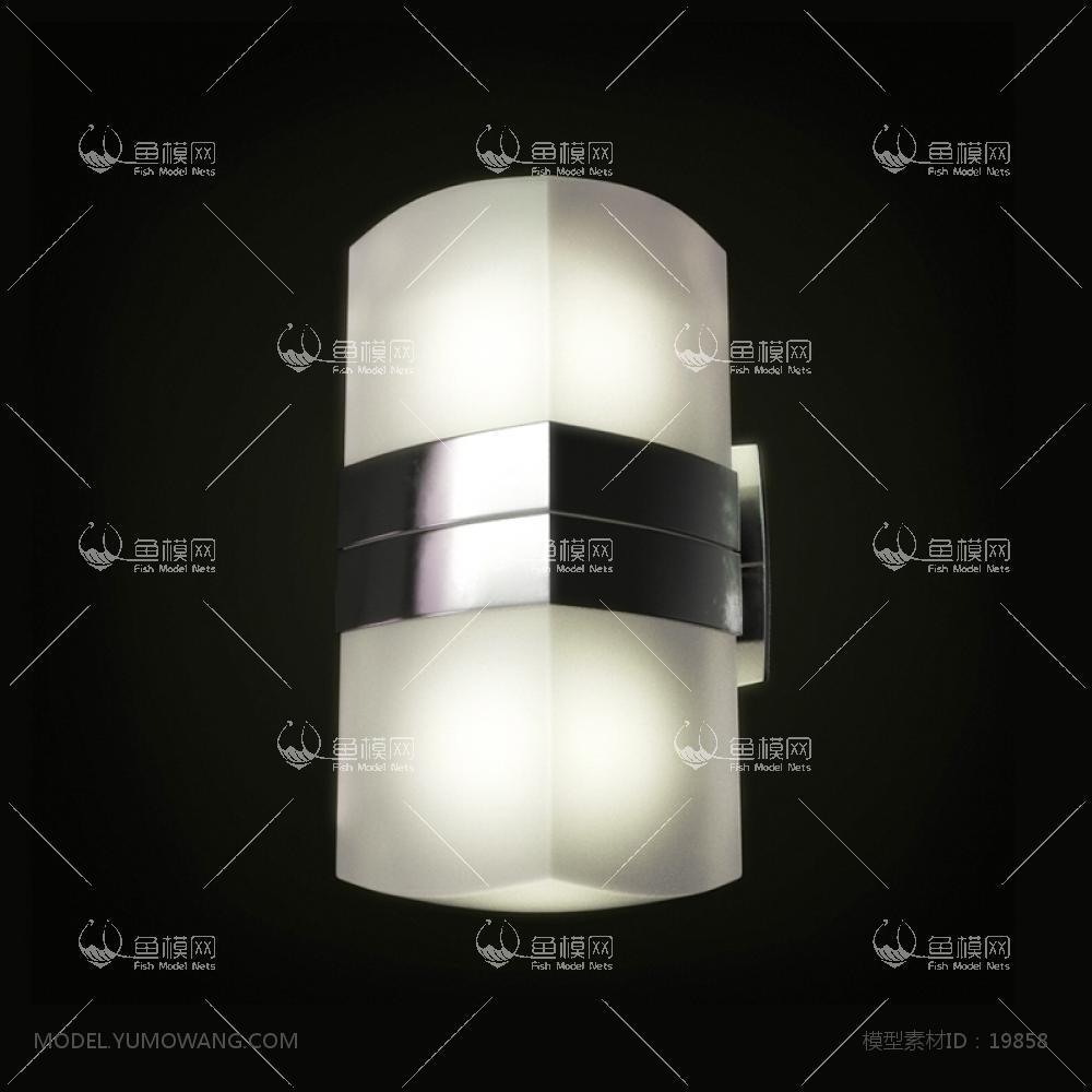现代壁灯 (1)3d模型