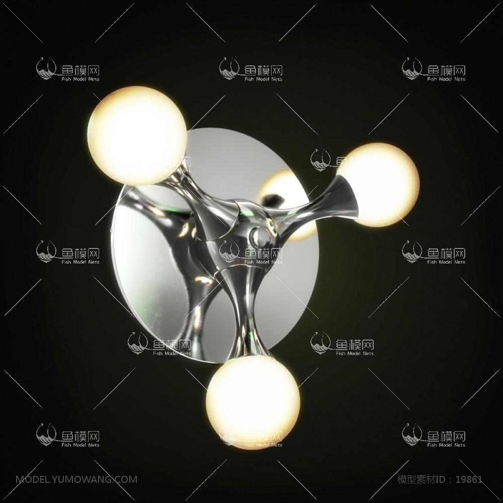 现代壁灯 (12)3d模型