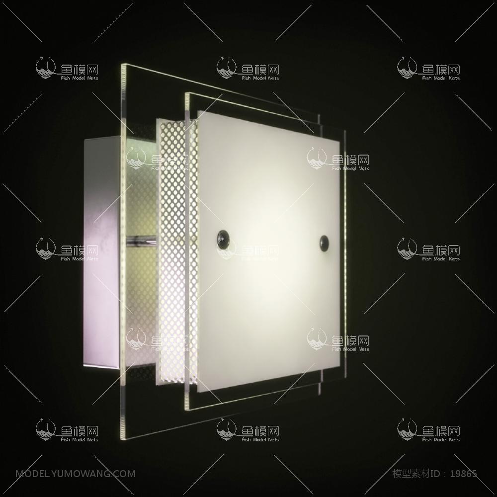 现代风格方块壁灯3d模型