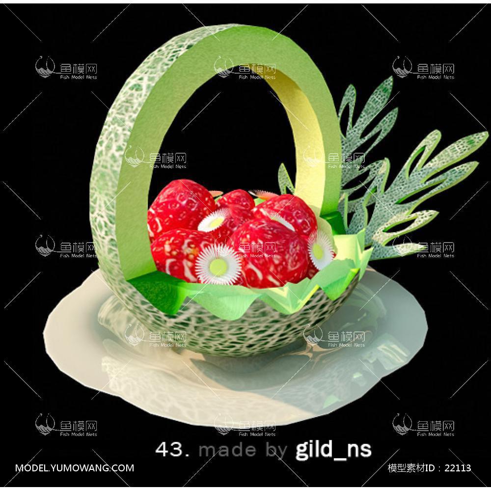 厨房摆件3D模型下载-[ID]22113