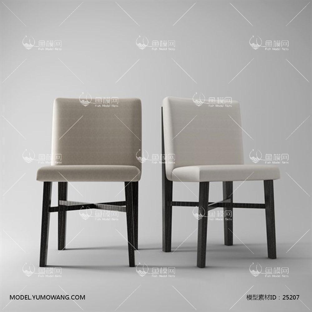 欧式单椅 (7)3d模型