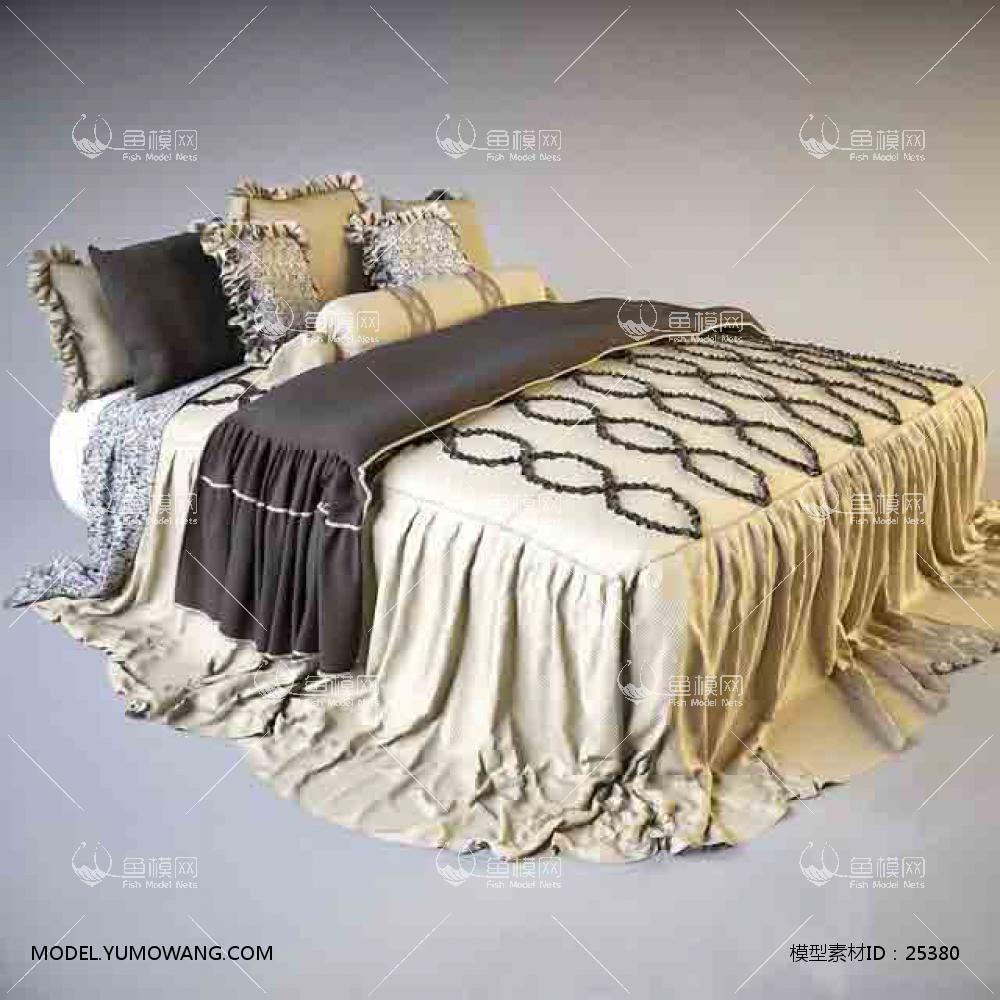 欧式风格双人床 (4)3D模型下载-[ID]25380
