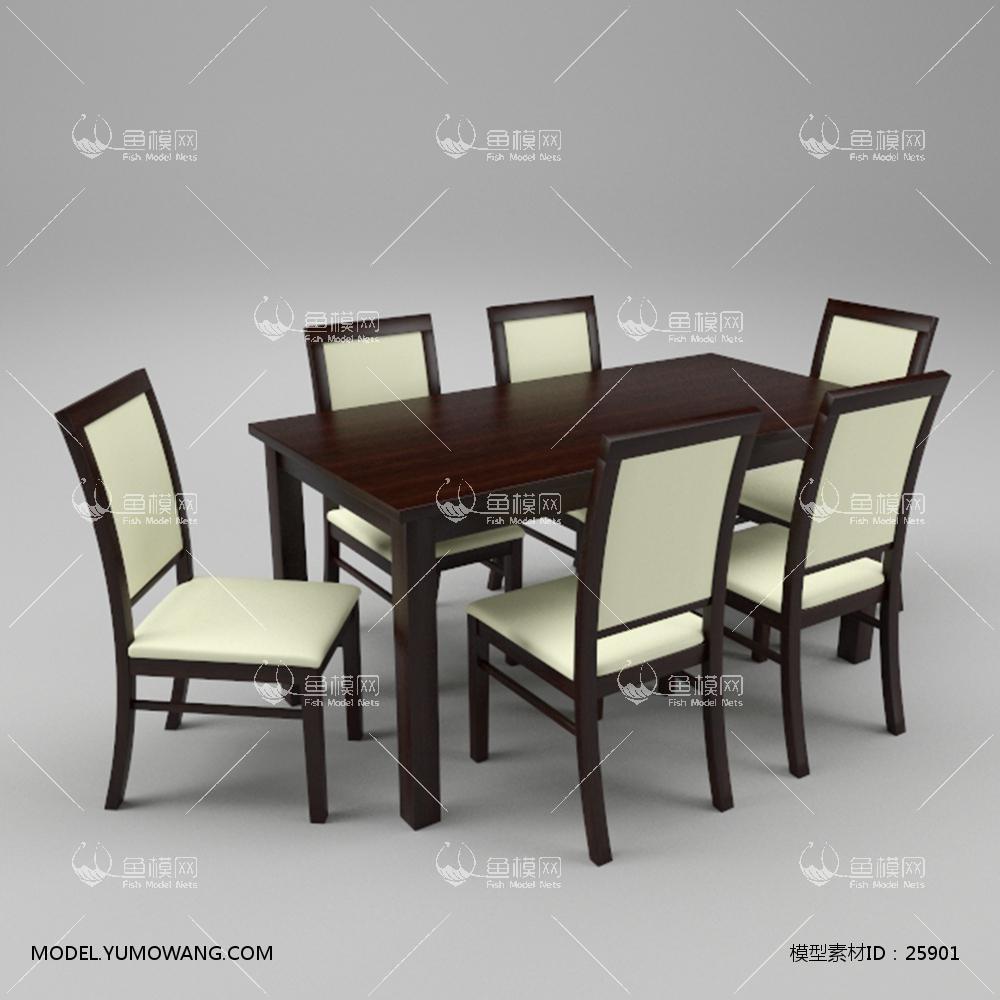 现代简约餐桌椅01 (7)3D模型下载-[ID]25901