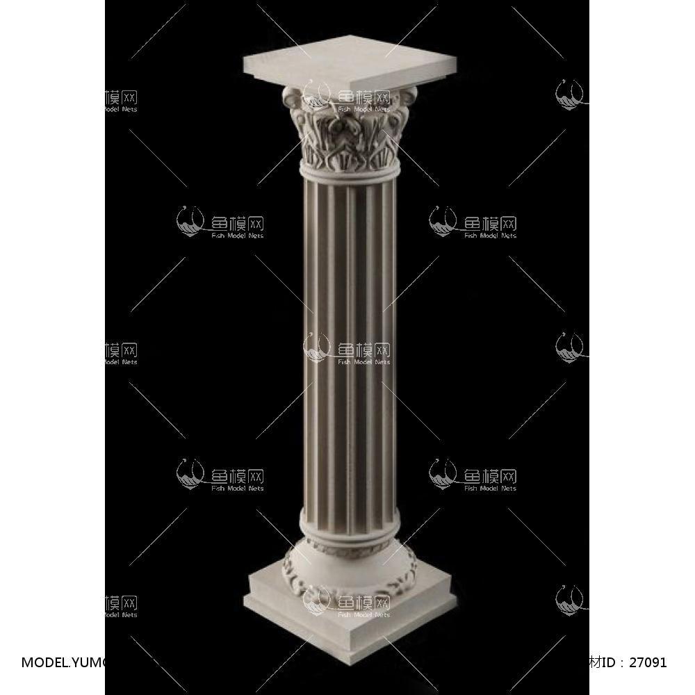欧式罗马柱 (1)3D模型下载-[ID]27091