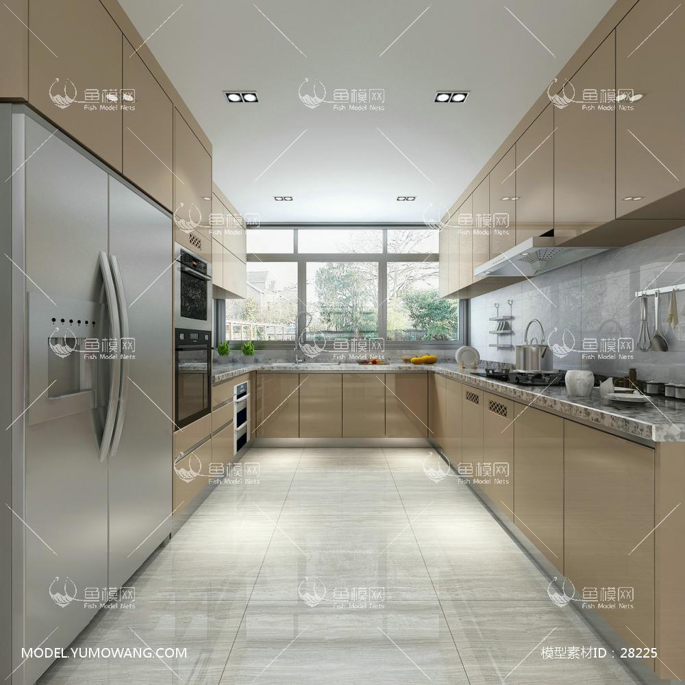 现代风格厨房 (4)3D模型下载-[ID]28225