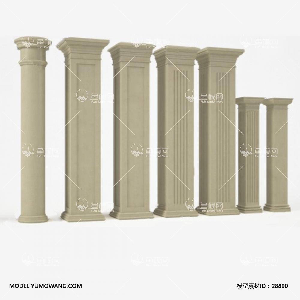 罗马柱 (9)3D模型下载-[ID]28890