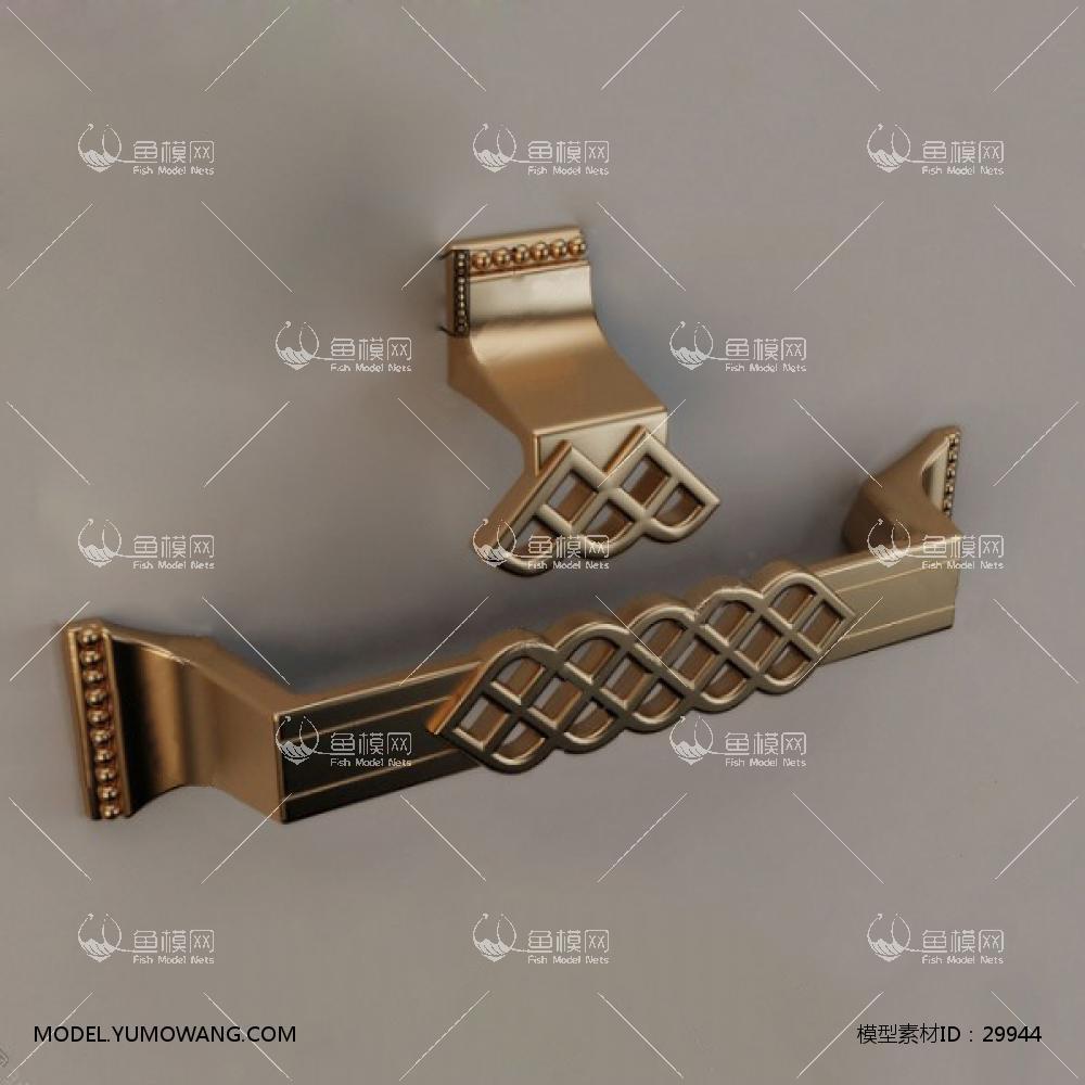 金属拉手把手3D模型下载-[ID]29944