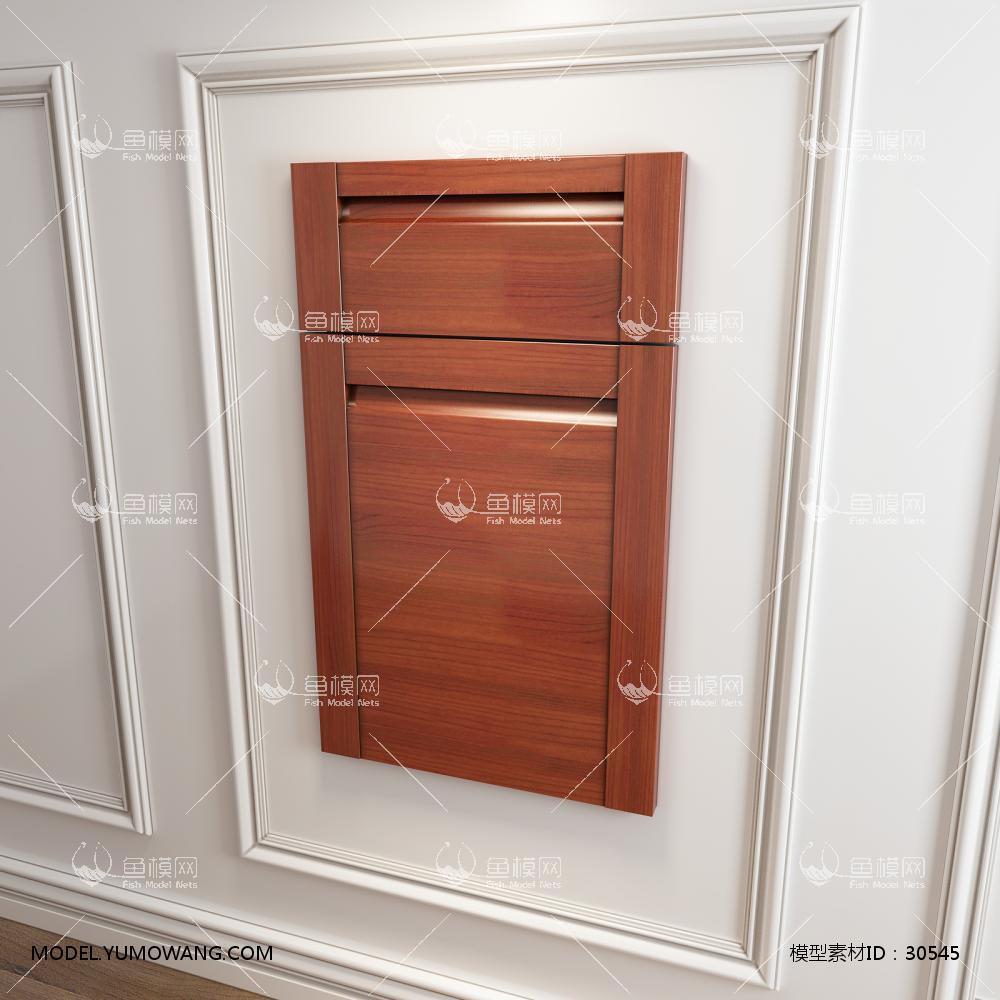 橱柜衣柜回字型门板门型原创3D模型下载-[ID]30545