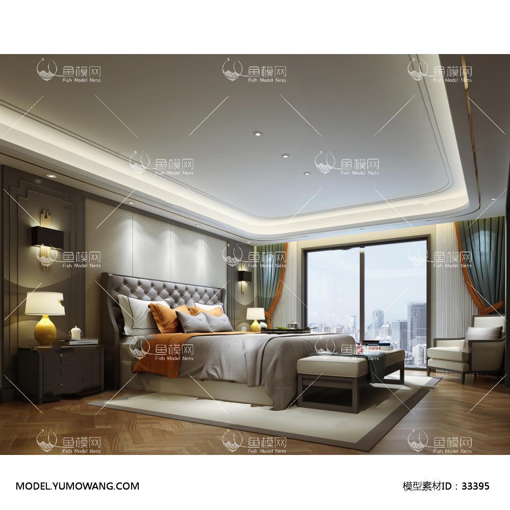现代风格卧室 (66)3D模型下载-[ID]33395