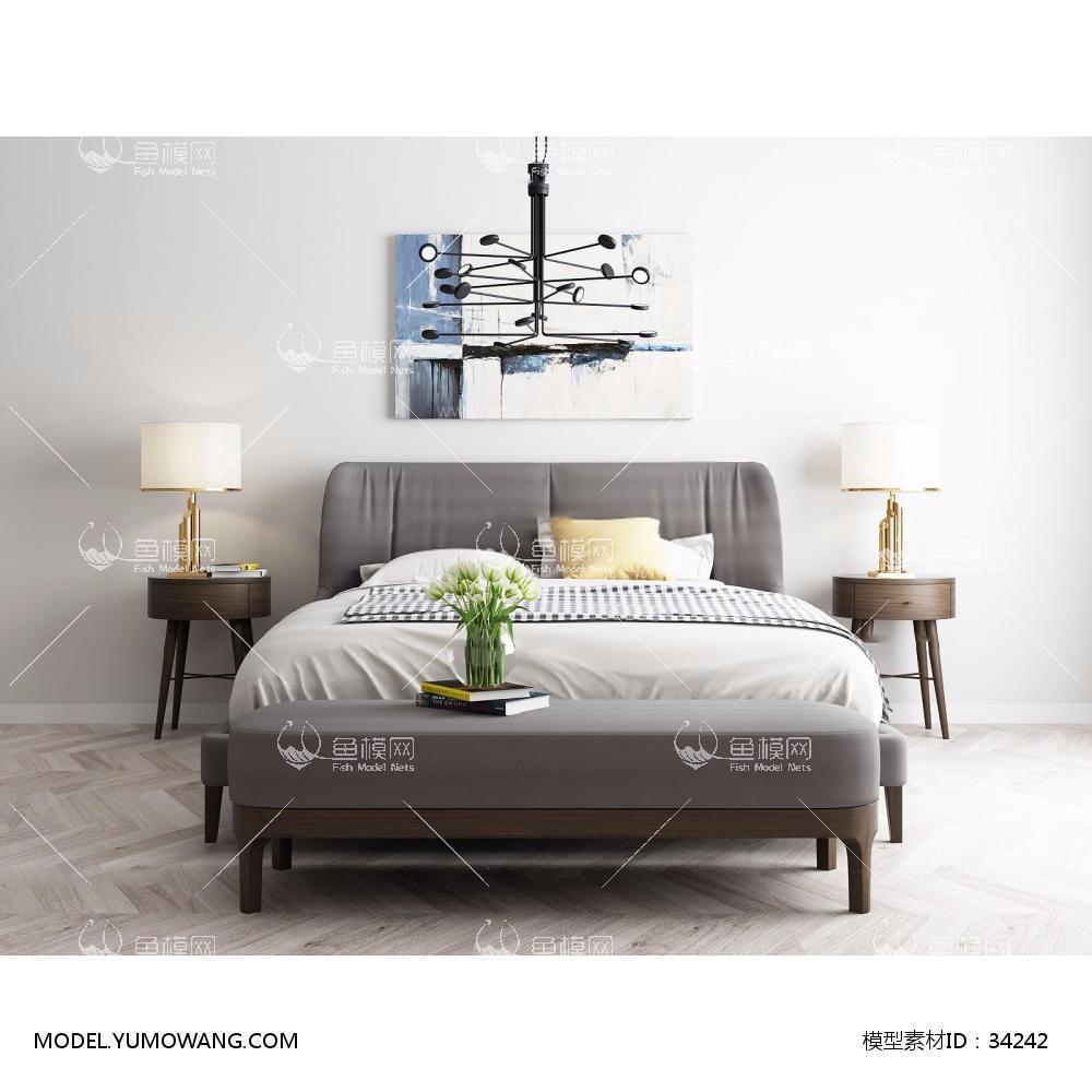 现代卧室床具1 (1)3D模型下载-[ID]34242