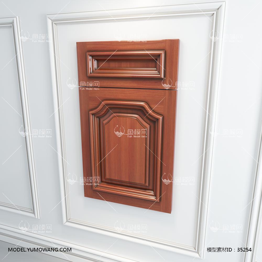 橱柜衣柜实木起拱门板门型原创3D模型下载-[ID]35254