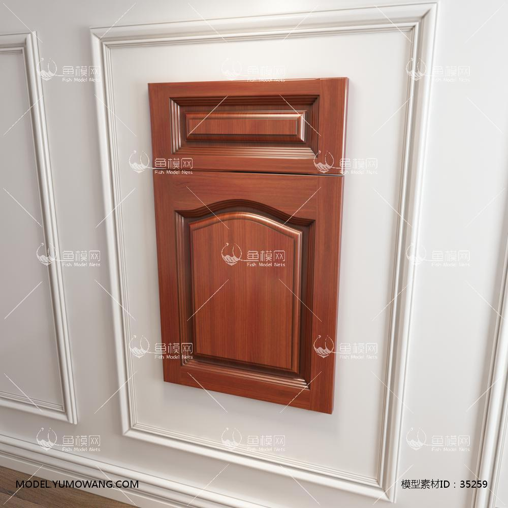 橱柜衣柜实木起拱门板门型原创3D模型下载-[ID]35259