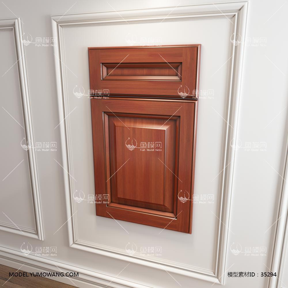 橱柜衣柜回型门板门型原创3D模型下载-[ID]35294