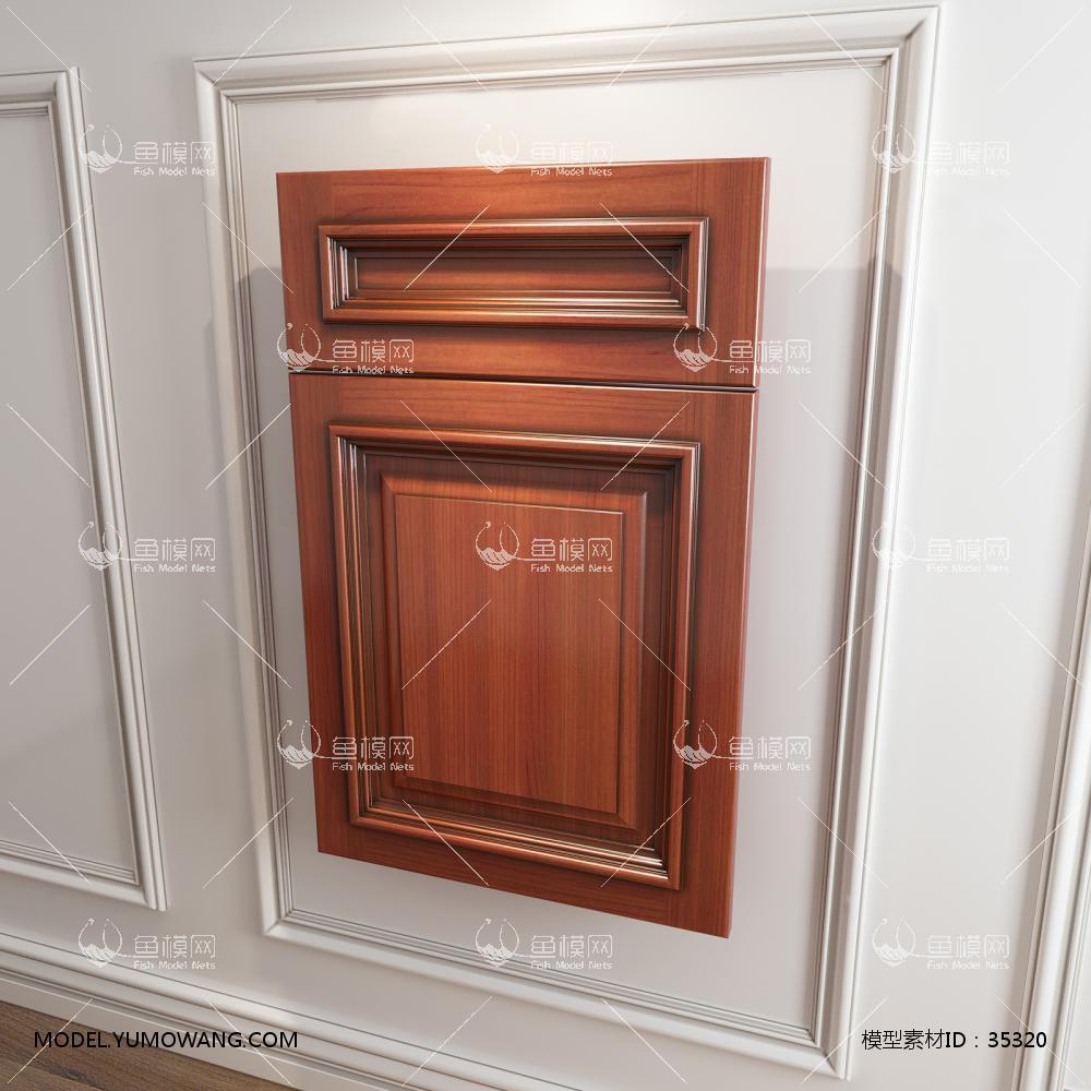 橱柜衣柜回型压线门板门型原创3D模型下载-[ID]35320