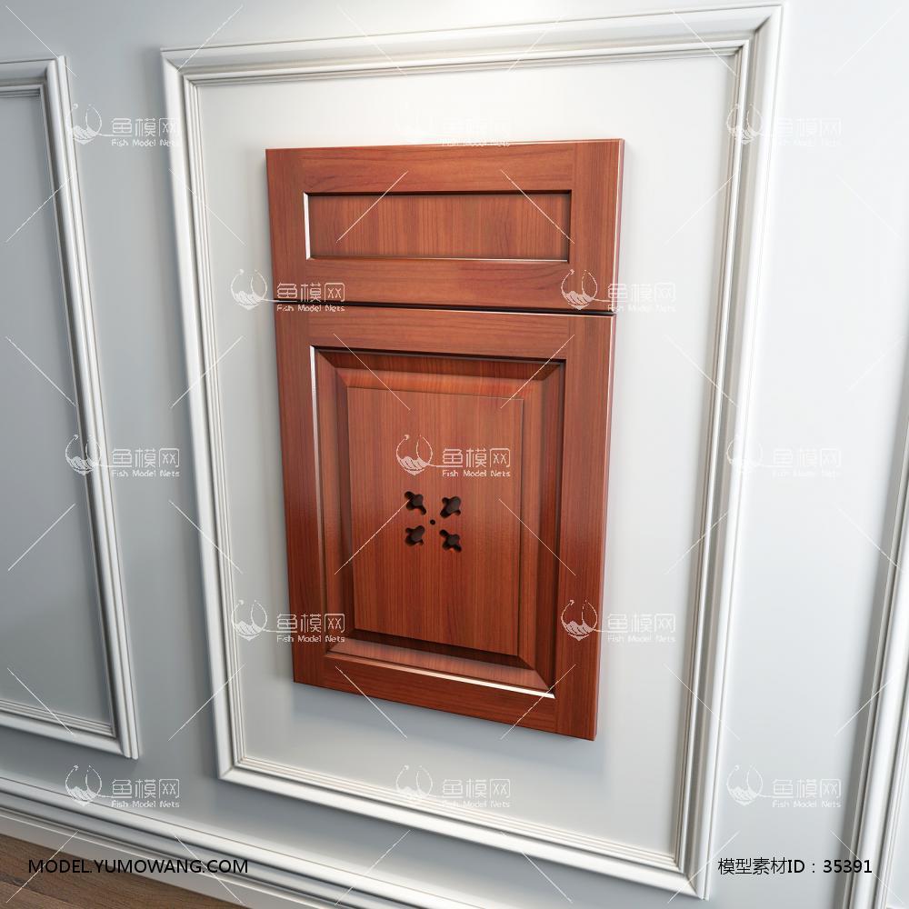 橱柜衣柜回型门板门型原创3D模型下载-[ID]35391
