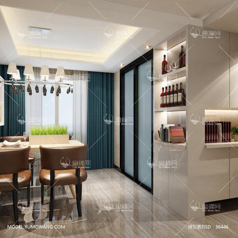 简约风格客厅 (6)3d模型