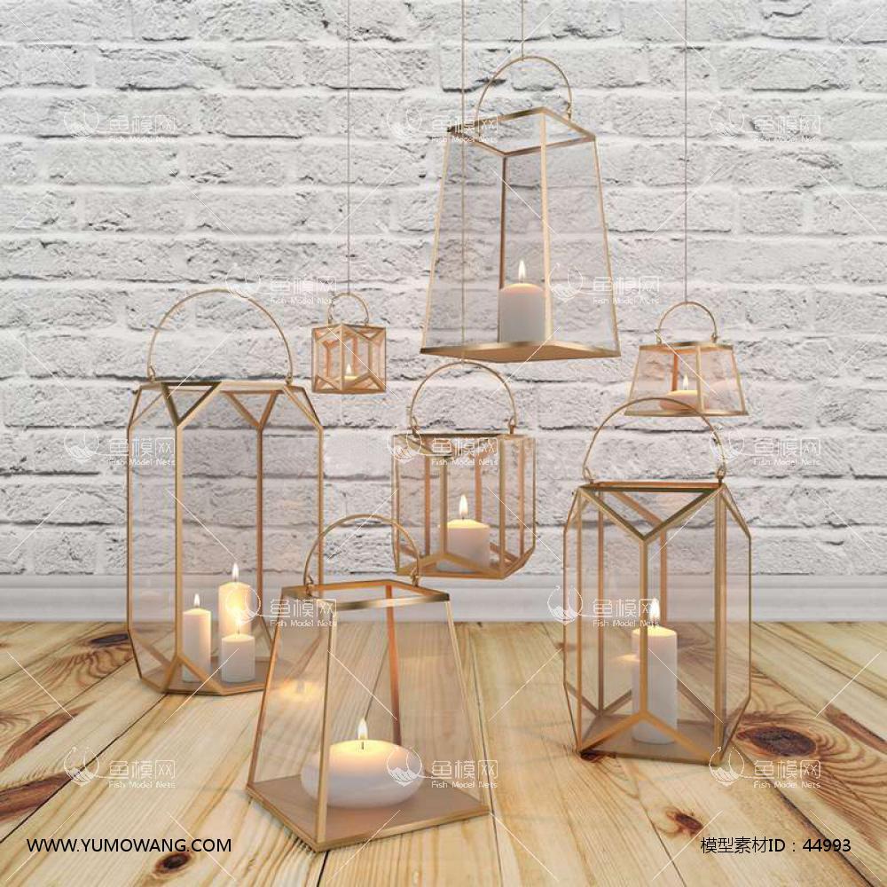 蜡烛灯3D模型下载-[ID]44993