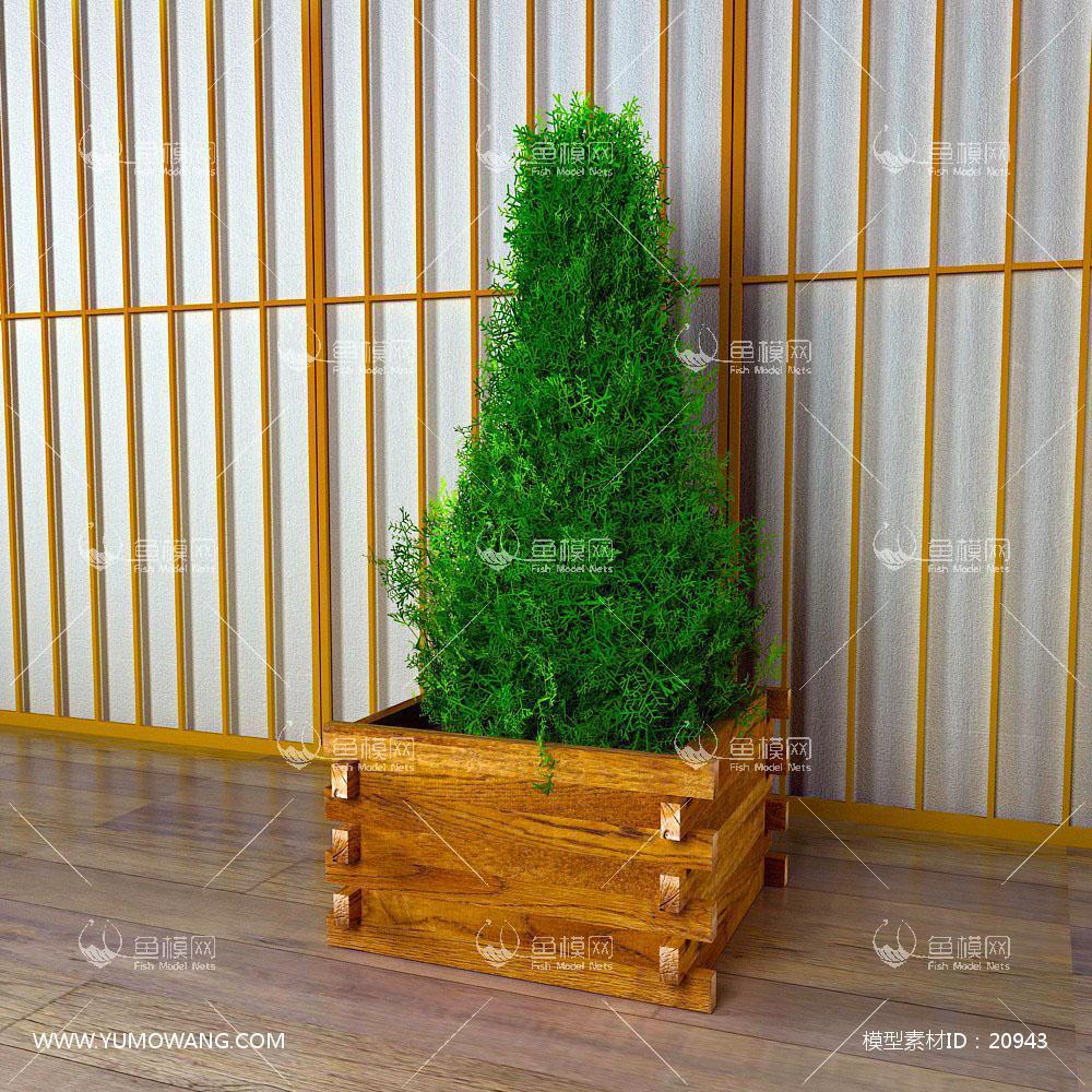 公园园林绿植树木灌木3D模型下载-[ID]20943