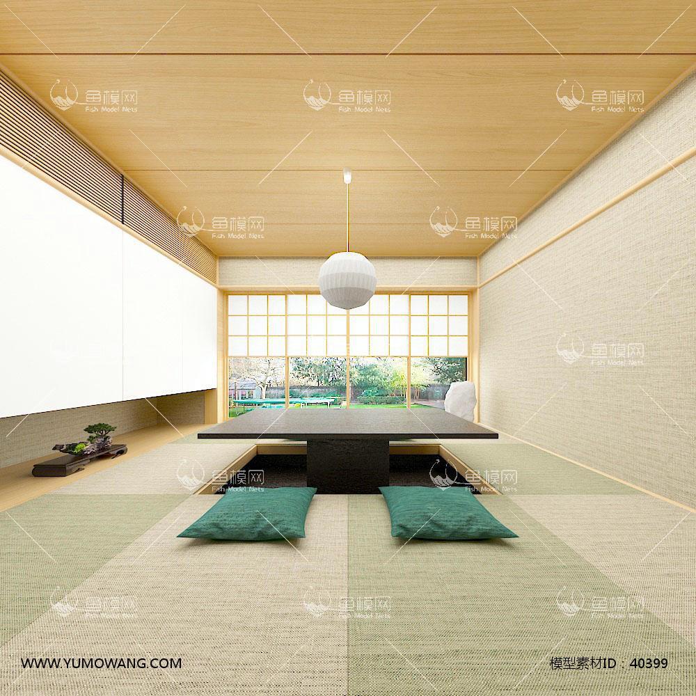 日式和室榻榻米3D模型下载-[ID]40399
