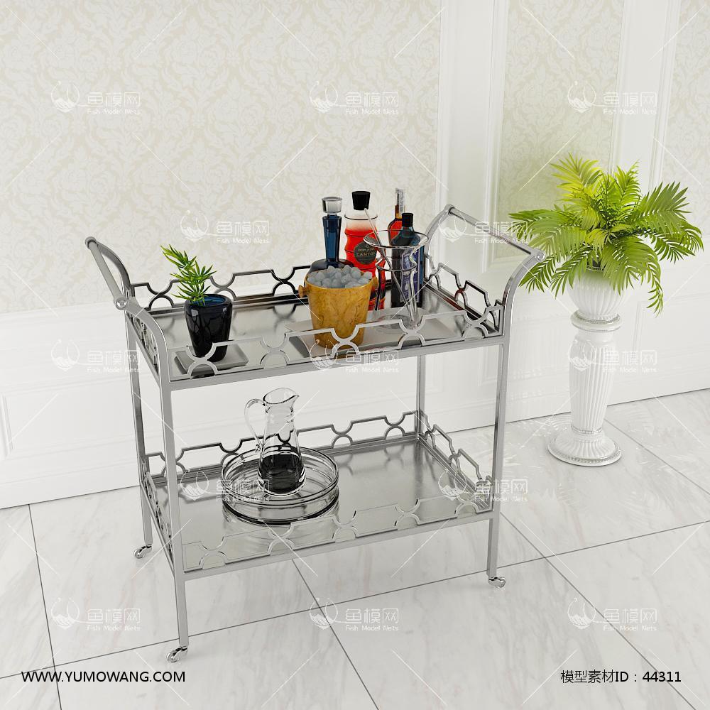 厨房厨具架3D模型下载-[ID]44311