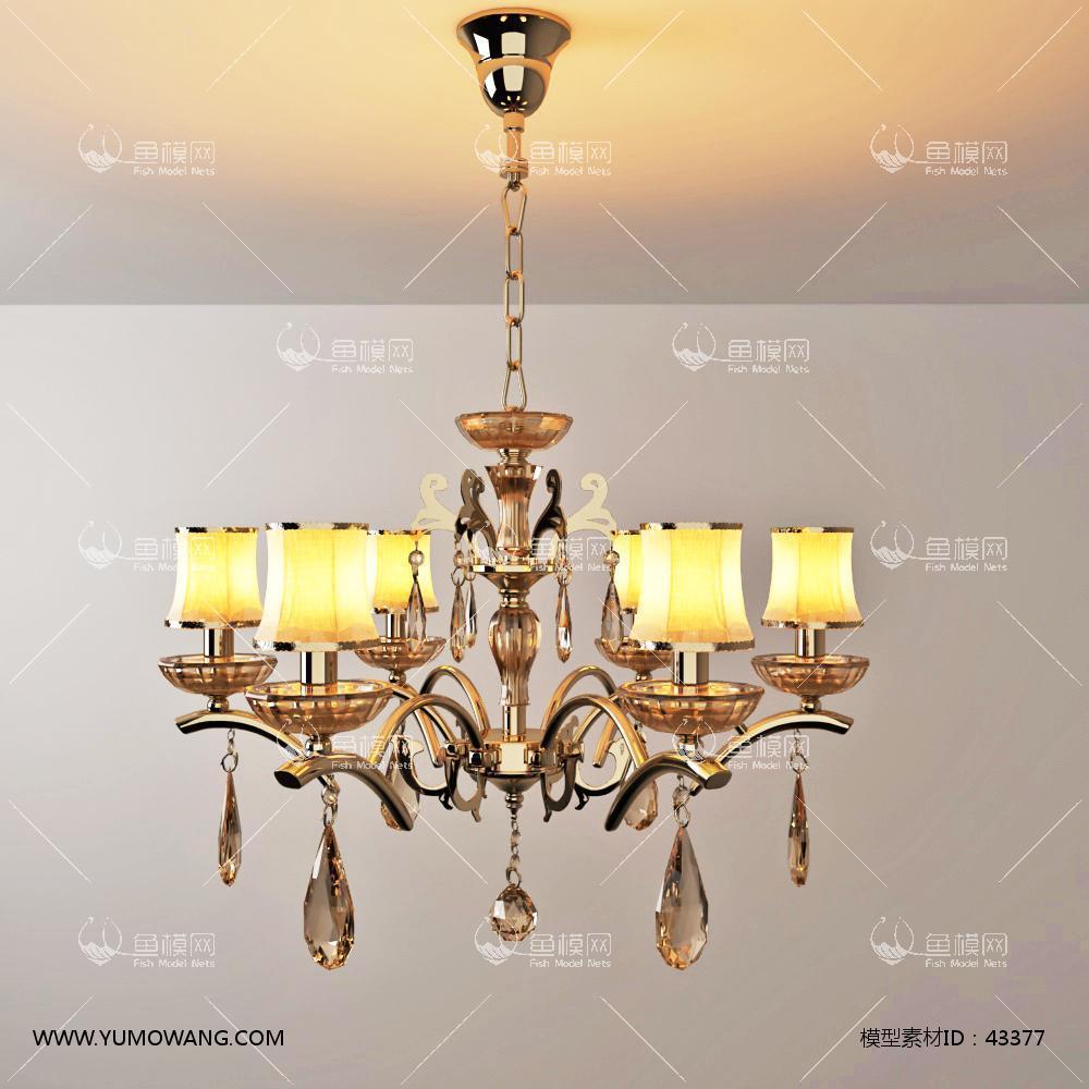 欧式灯具类吊灯3D模型下载-[ID]43377