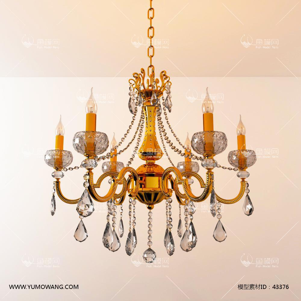 欧式灯具类吊灯3D模型下载-[ID]43376