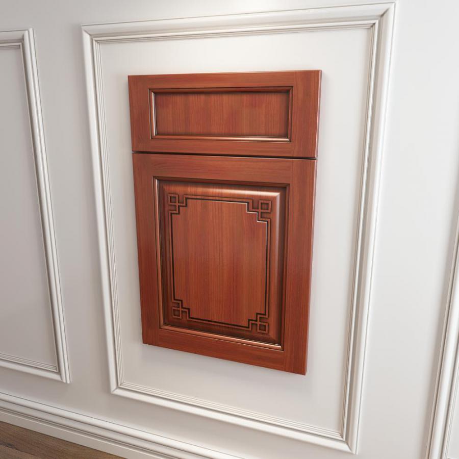 中式橱柜衣柜回型门板3d模型下载