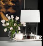 现代花卉茶具台灯陈设饰品组合3D模型下载-[ID]27955