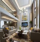欧式风格整体家装别墅大厅3D模型下载-[ID]48483