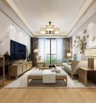 新中式风格整体家装客厅空间3D模型下载-[ID]48773