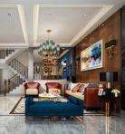 新中式风格整体家装别墅大厅3D模型下载-[ID]48822