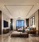 新中式风格整体家装客厅空间3D模型下载-[ID]48990