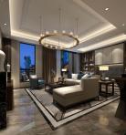 中式风格整体家装客厅空间3D模型下载-[ID]48979