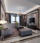 轻奢风格整体家装客厅空间3D模型下载-[ID]49072