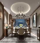 新中式风格整体家装餐厅空间3D模型下载-[ID]49423