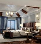 美式风格整体家装卧室空间主卧室3D模型下载-[ID]49540
