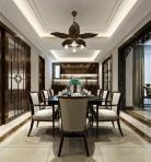 新中式风格整体家装餐厅空间3D模型下载-[ID]49508