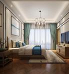 新中式风格整体家装卧室空间主卧室3D模型下载-[ID]49732