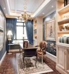 欧式风格整体家装书房空间3D模型下载-[ID]50054