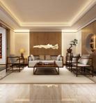 新中式风格整体家装休闲娱乐茶室3D模型下载-[ID]50476