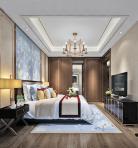 新中式家装卧室空间3D模型下载-[ID]43723