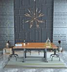 工业风餐桌椅3D模型下载-[ID]44451