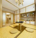 日式榻榻米茶室休息室3D模型下载-[ID]40411