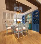 地中海整体家装餐厅空间3D模型下载-[ID]55059