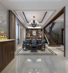 新中式客厅餐厅玄关3D模型下载-[ID]28569