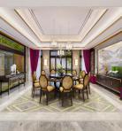 新中式家装餐厅空间3D模型下载-[ID]43416