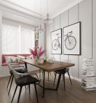 现代客厅餐厅空间3D模型下载-[ID]43939