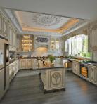 欧式整体家装厨房空间3D模型下载-[ID]55261